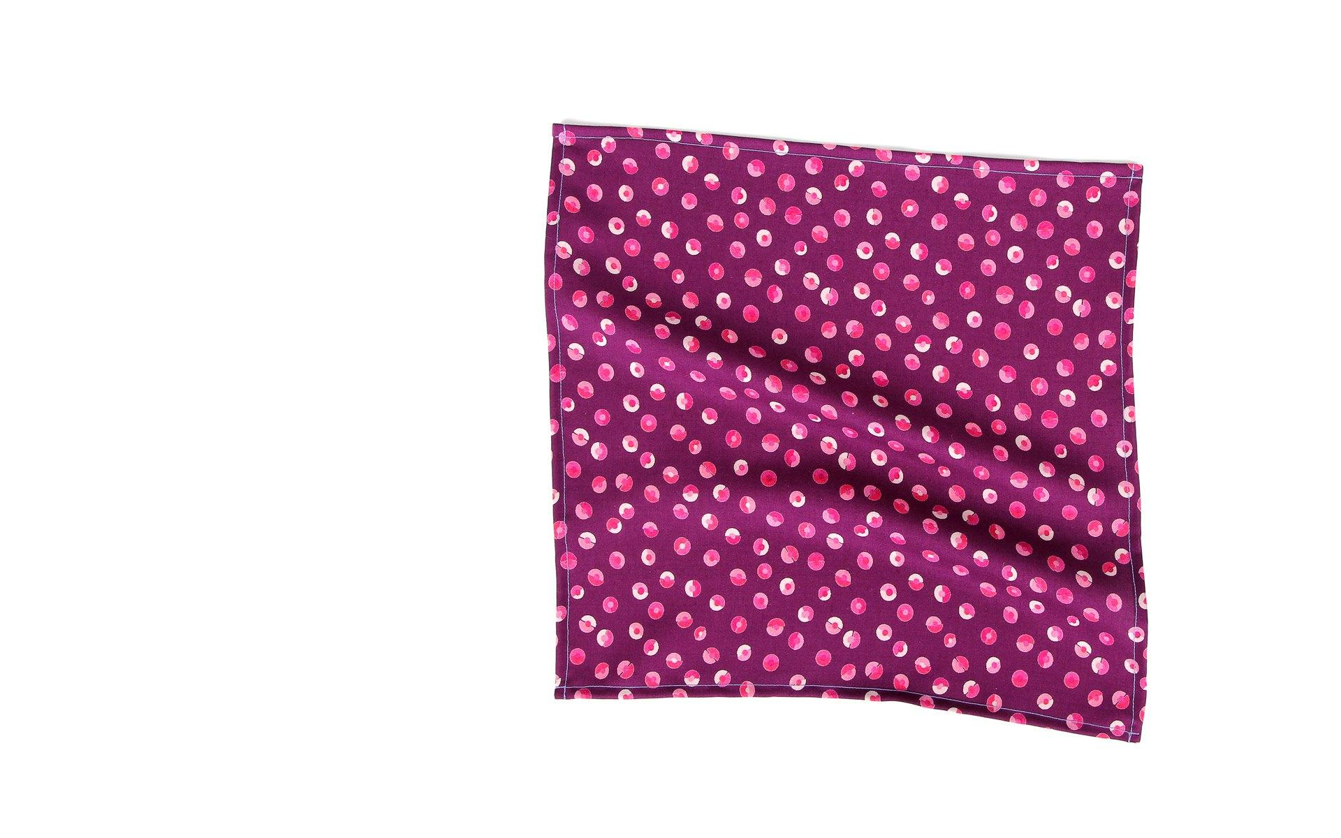 Pink & Purple Patterned Cotton Pocket Square