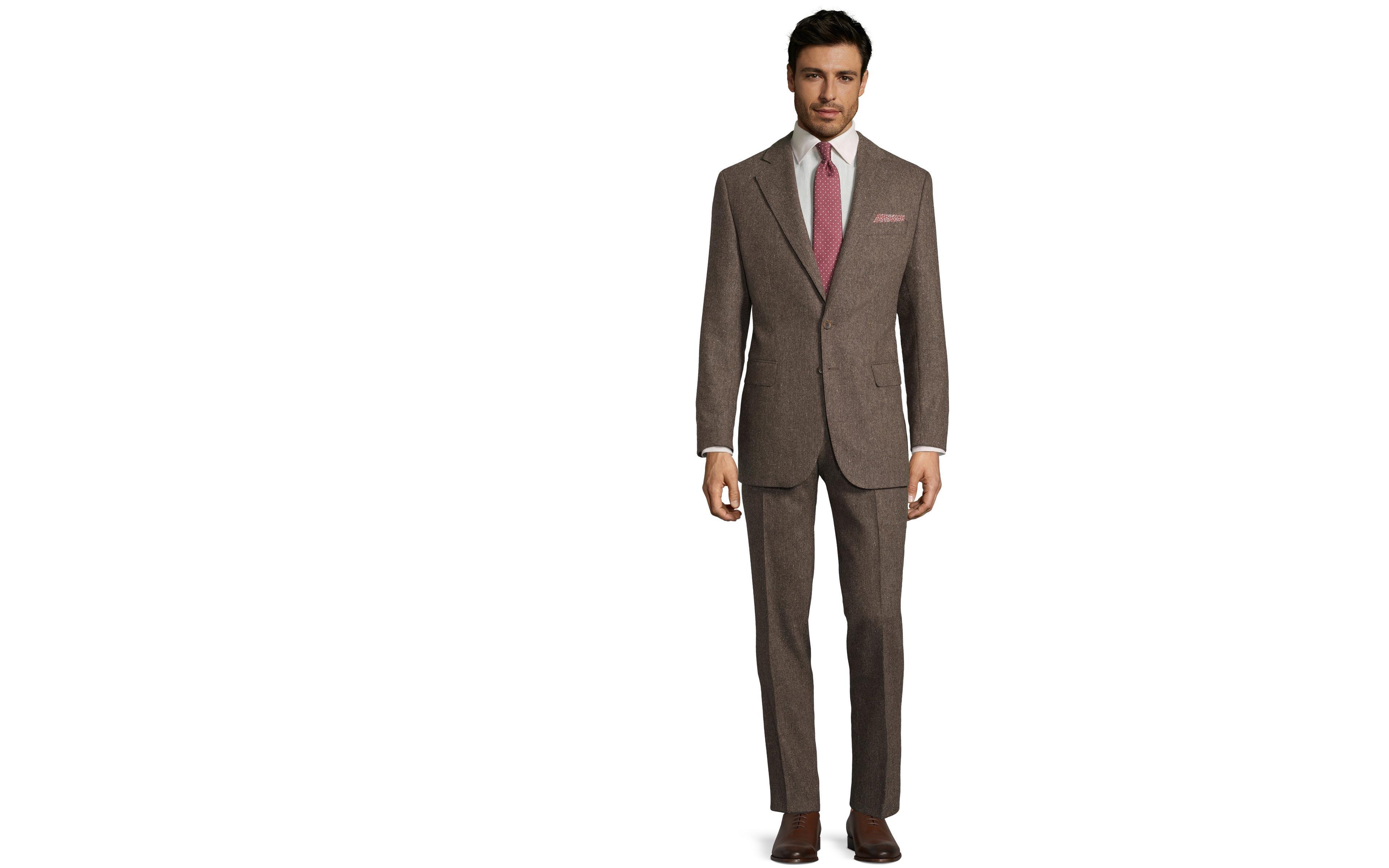 Natural Brown Tweed Suit
