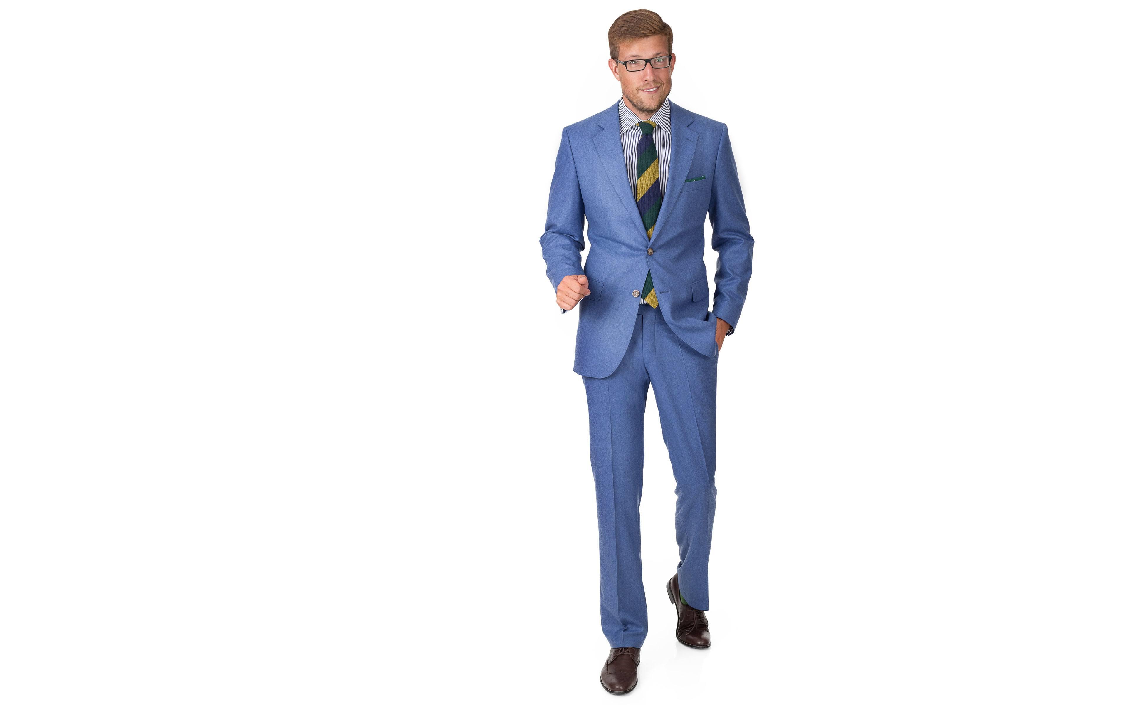 Sky Blue Flannel Suit