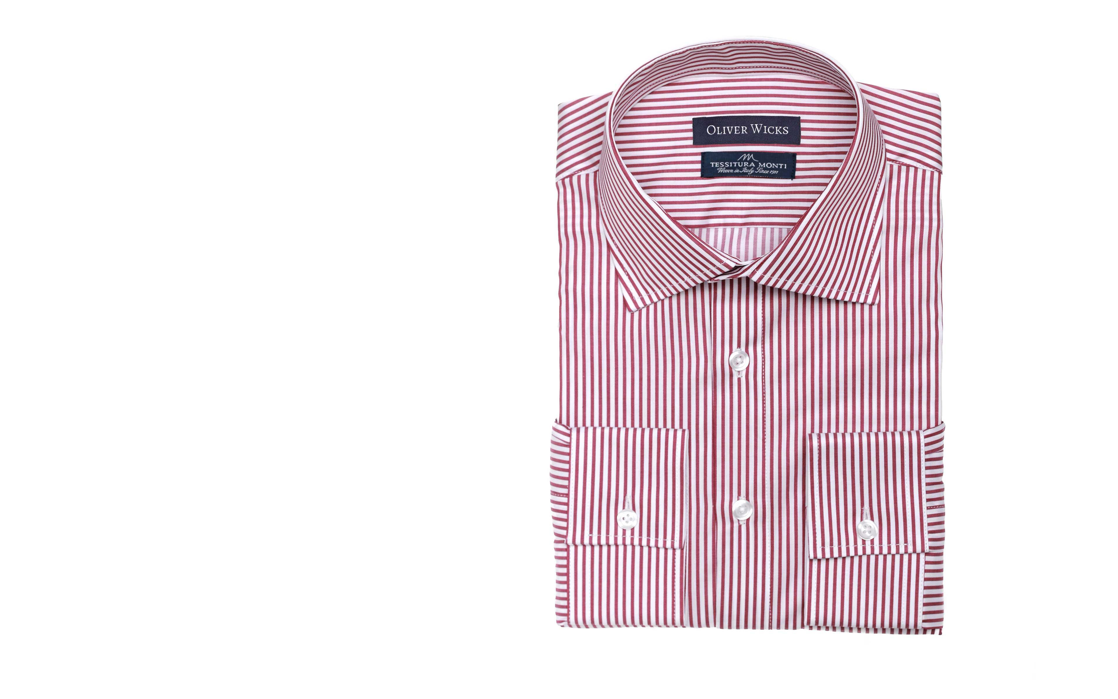 Men's Style Pro Red Striped Shirt