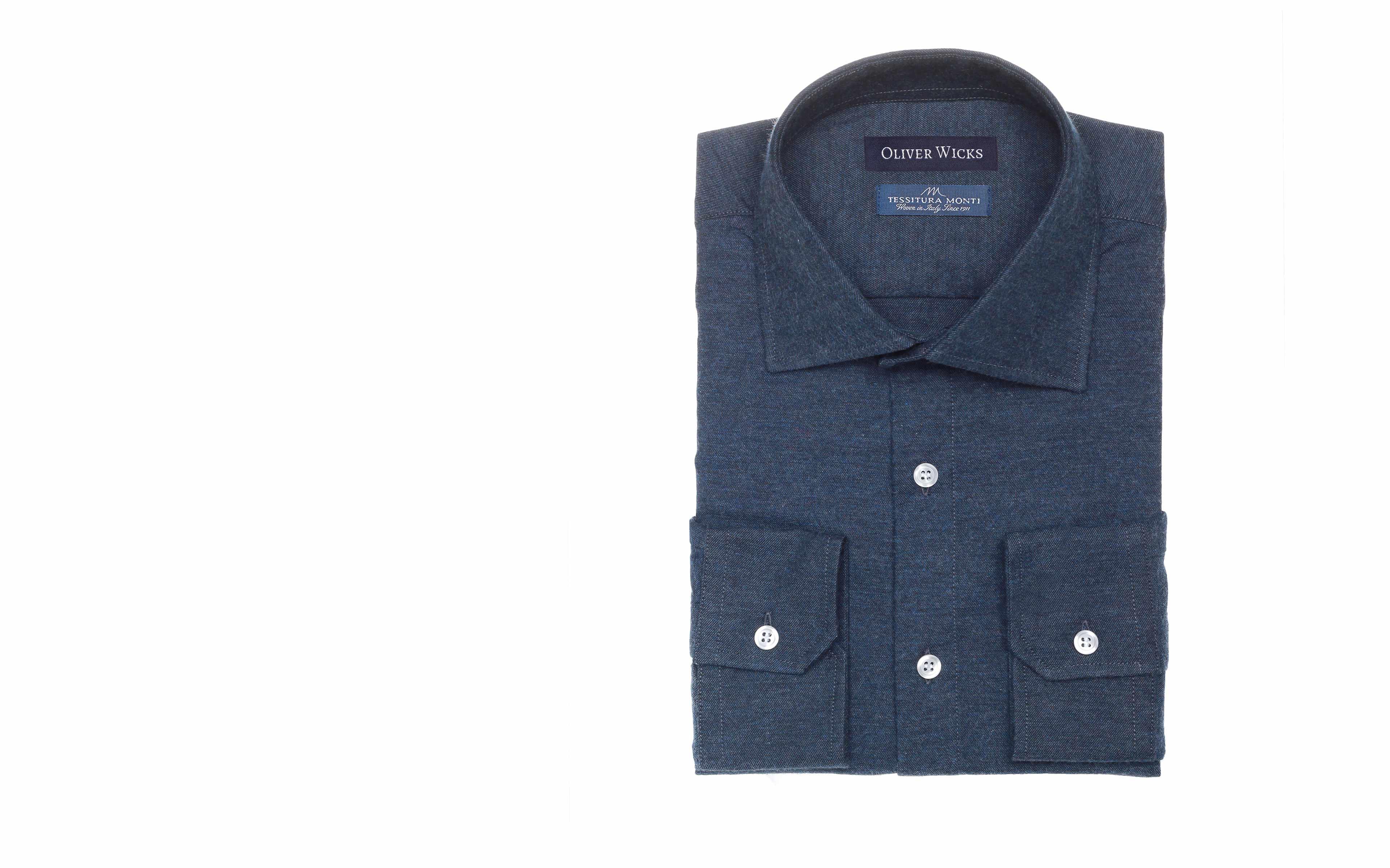 Men's Style Pro Navy Flannel Shirt