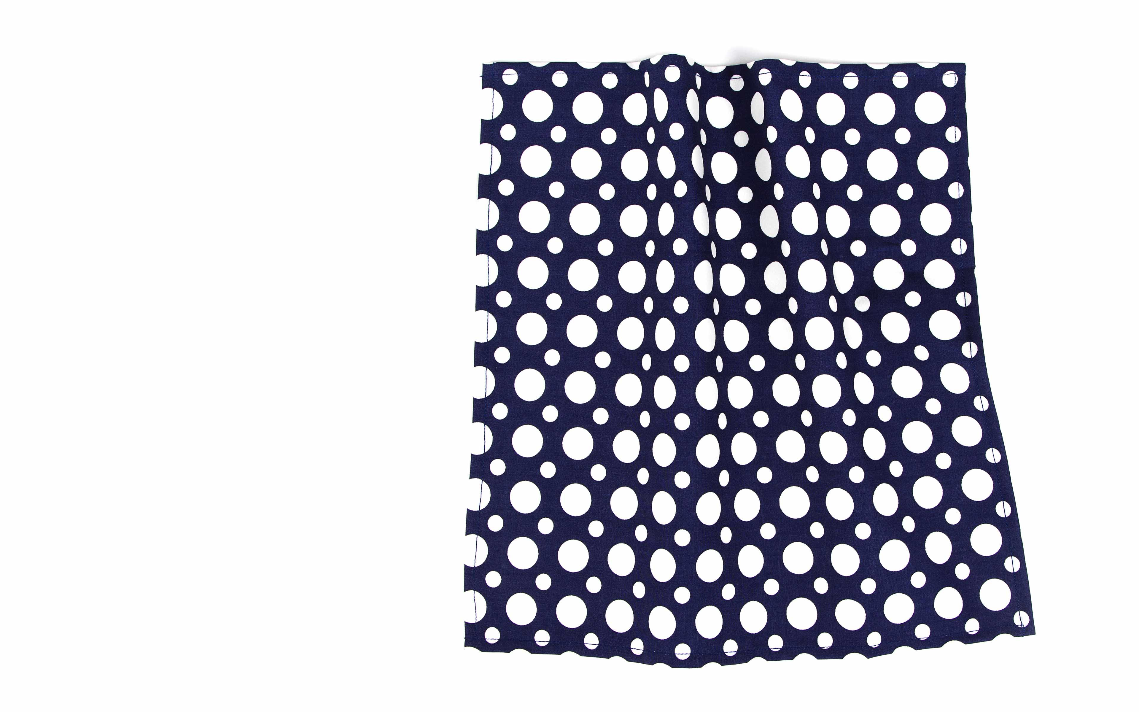 Blue Dots Cotton Pocket Square