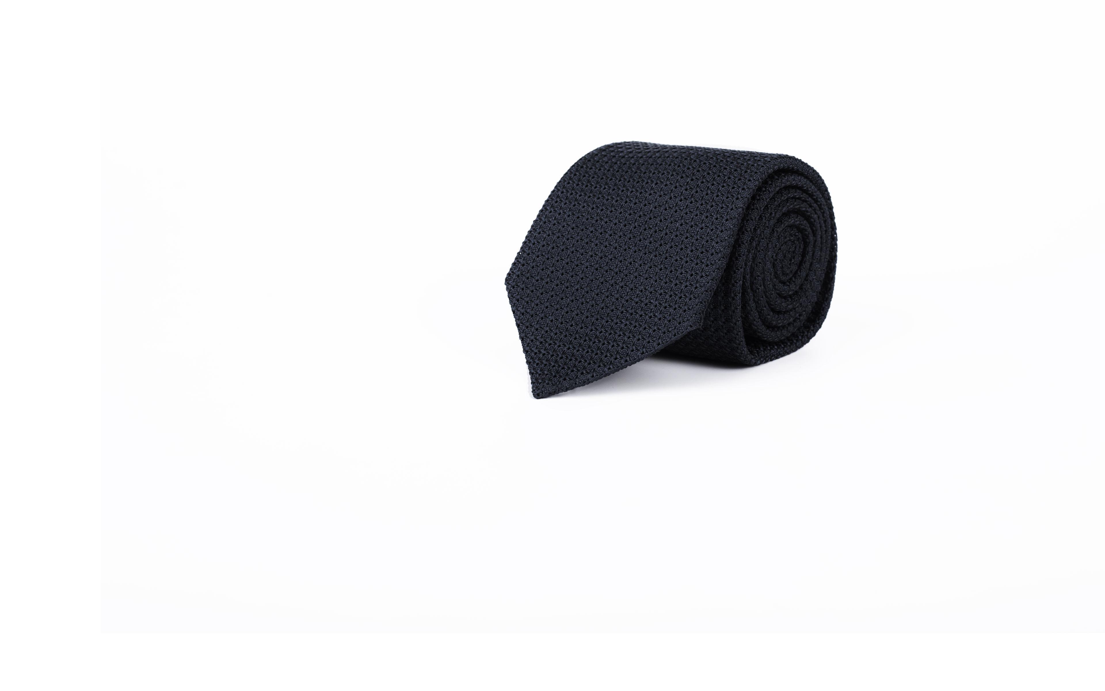 Dark Navy 100% Grenadine Silk Tie