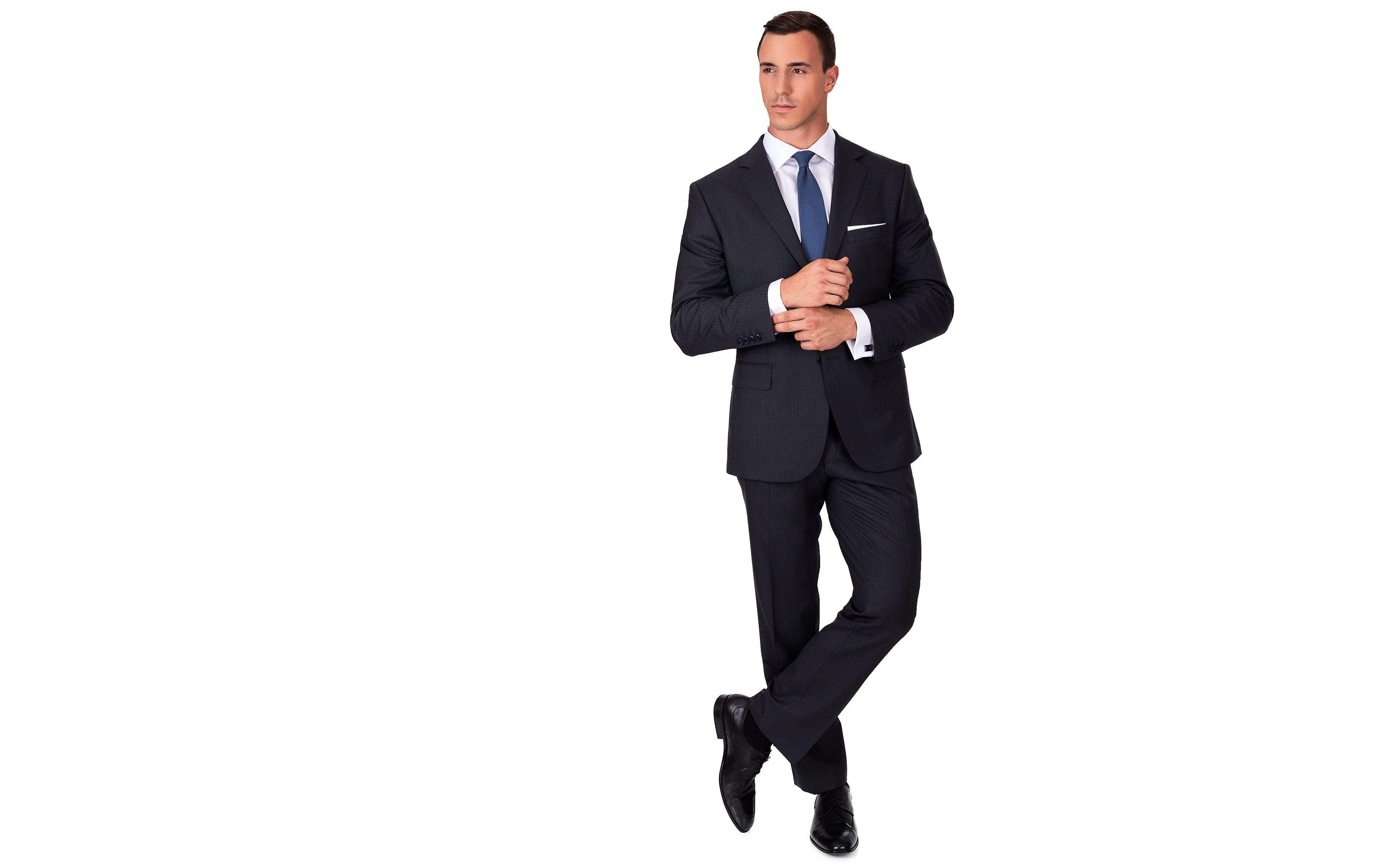 Premium Grey Track Stripe Suit