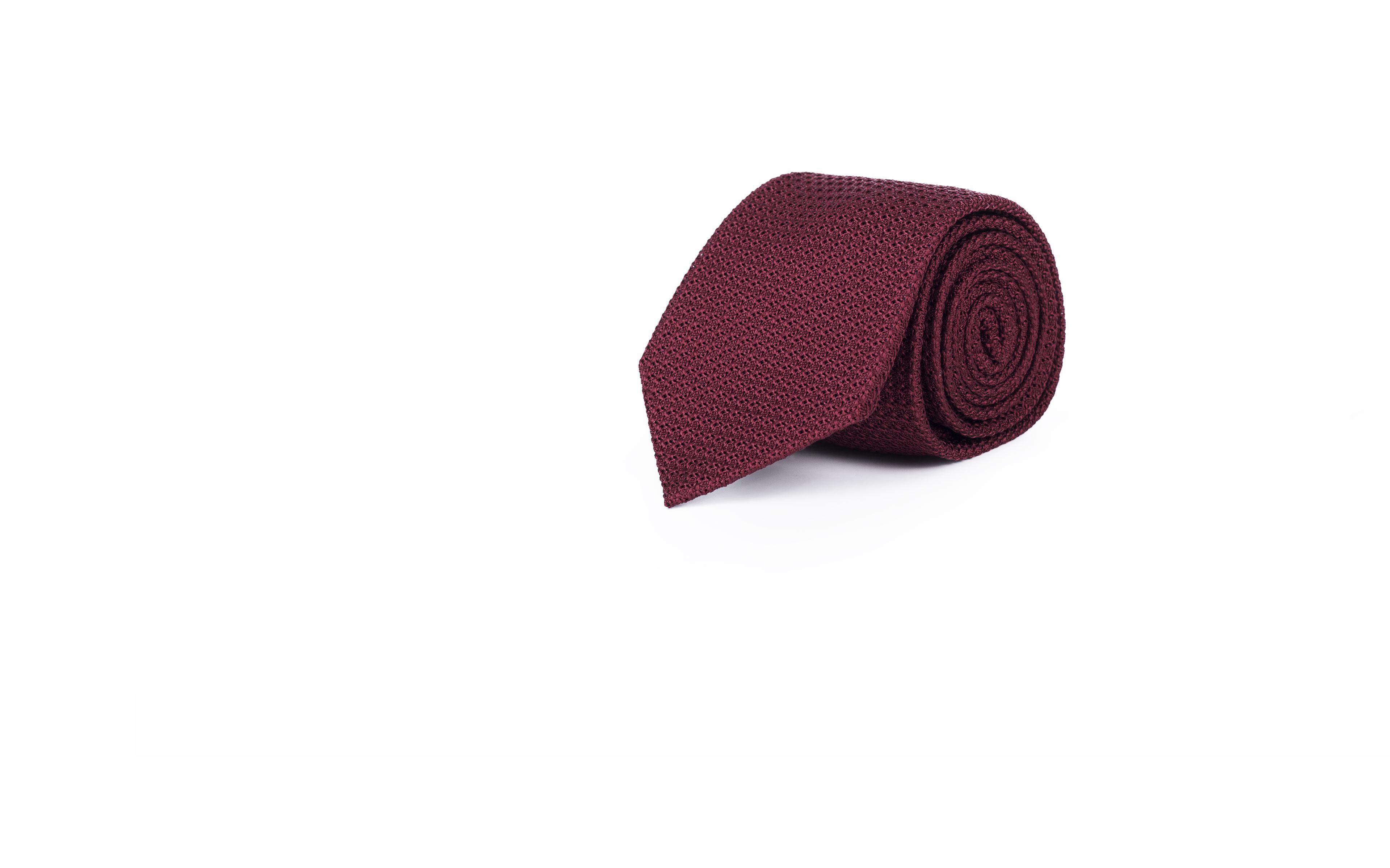 Burgundy 100% Grenadine Silk Tie