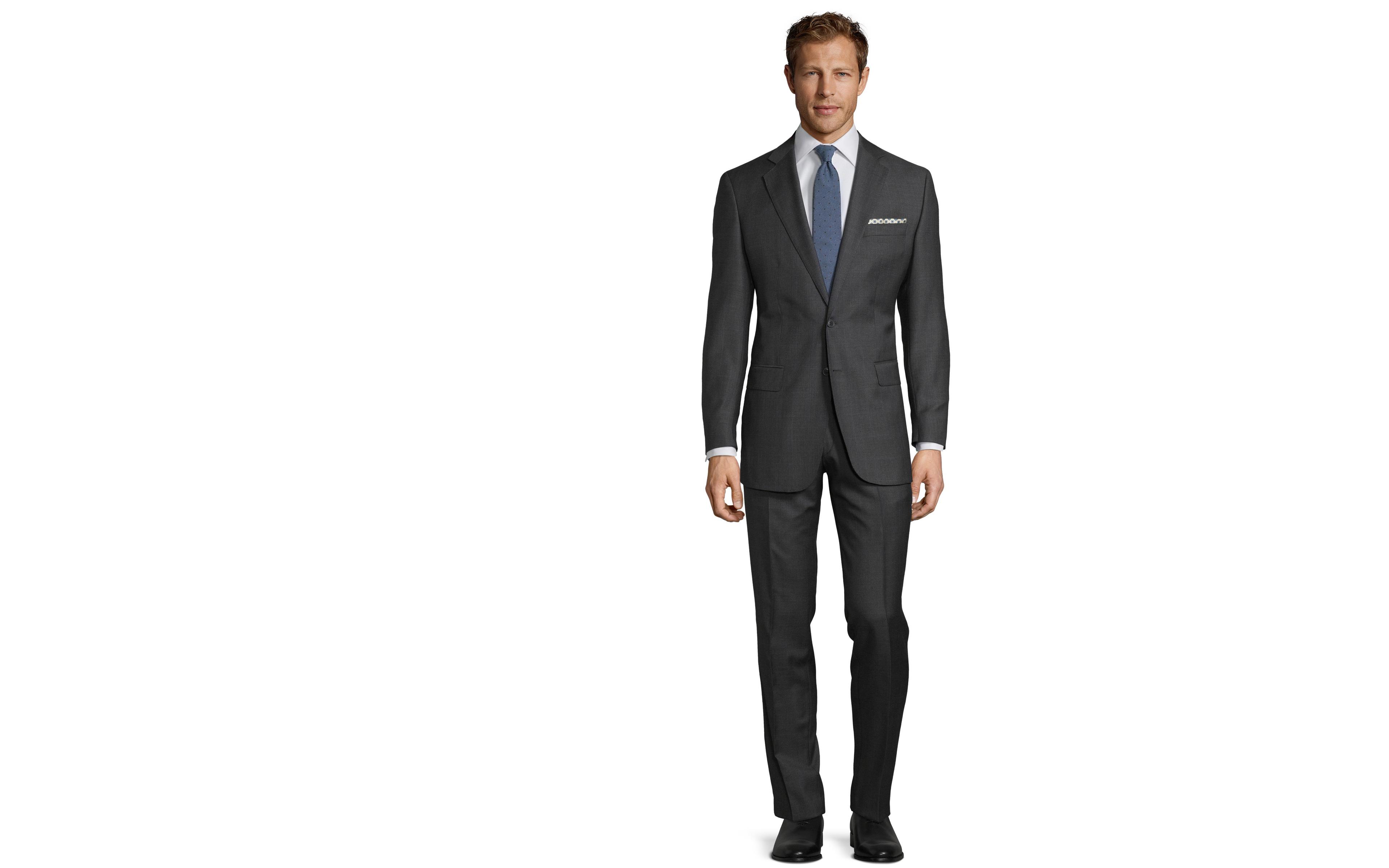 Premium Charcoal Plaid Suit