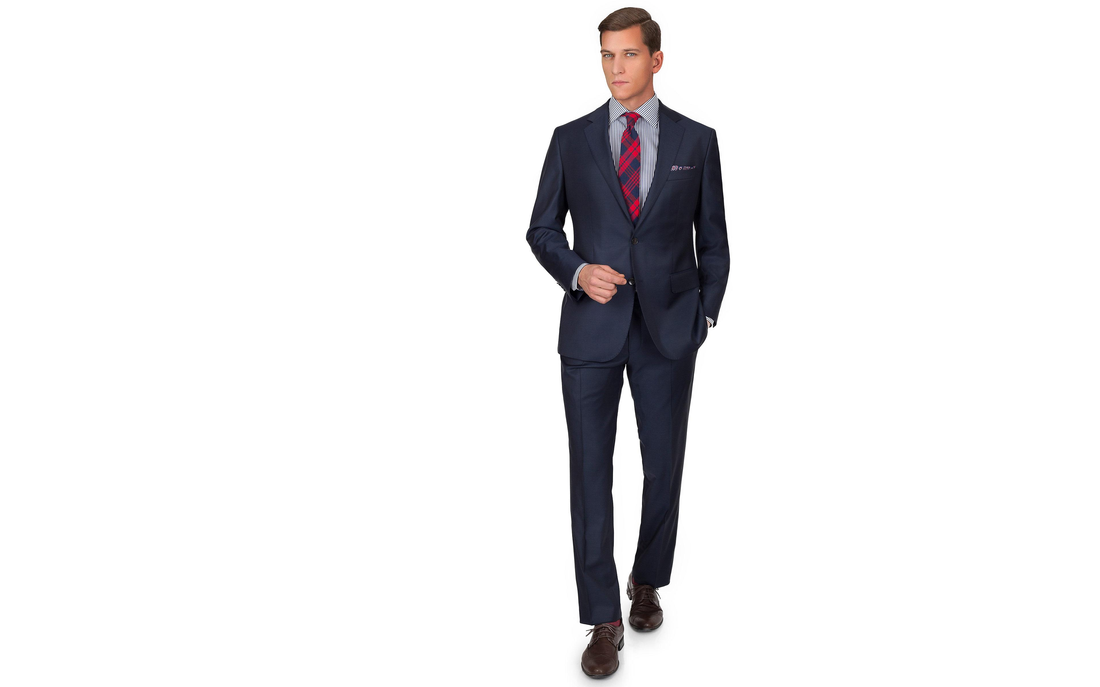 Solid Light Navy Suit