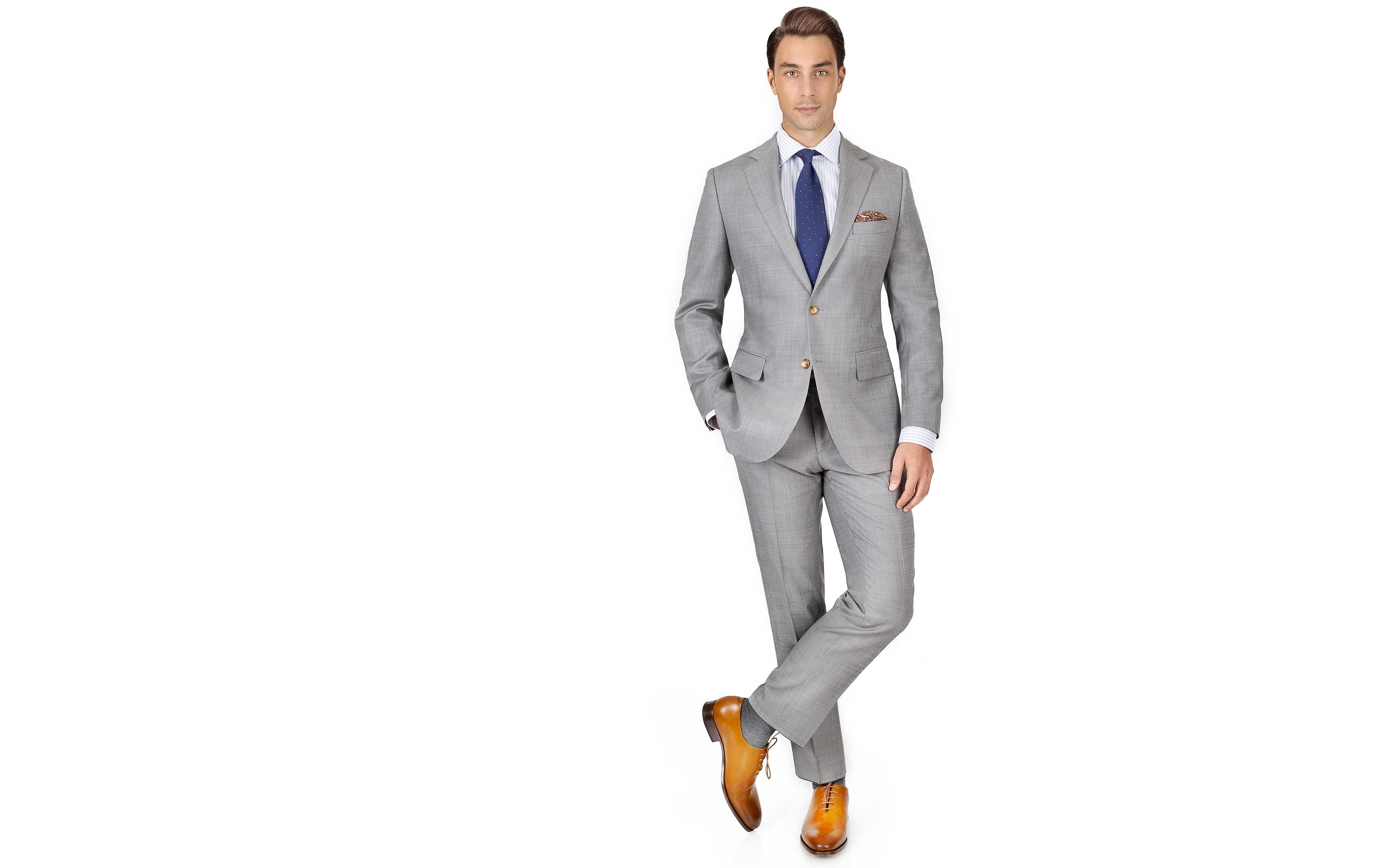 Light Grey Pick & Pick Suit