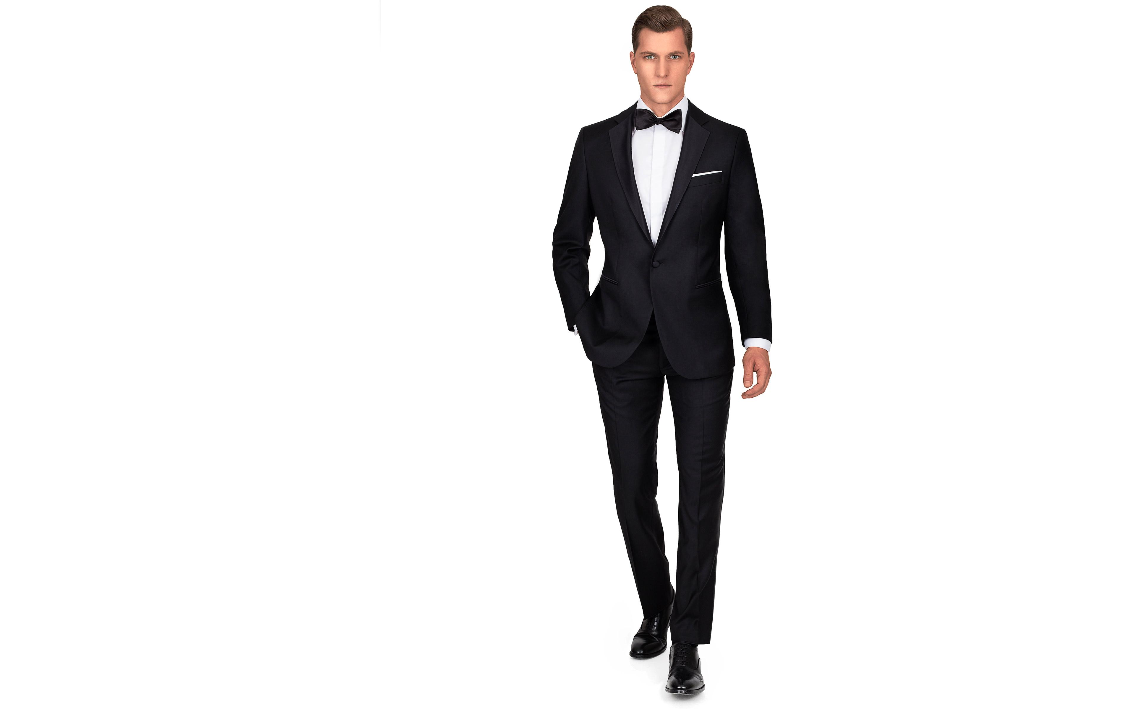 1663 Black Tuxedo with notch lapels