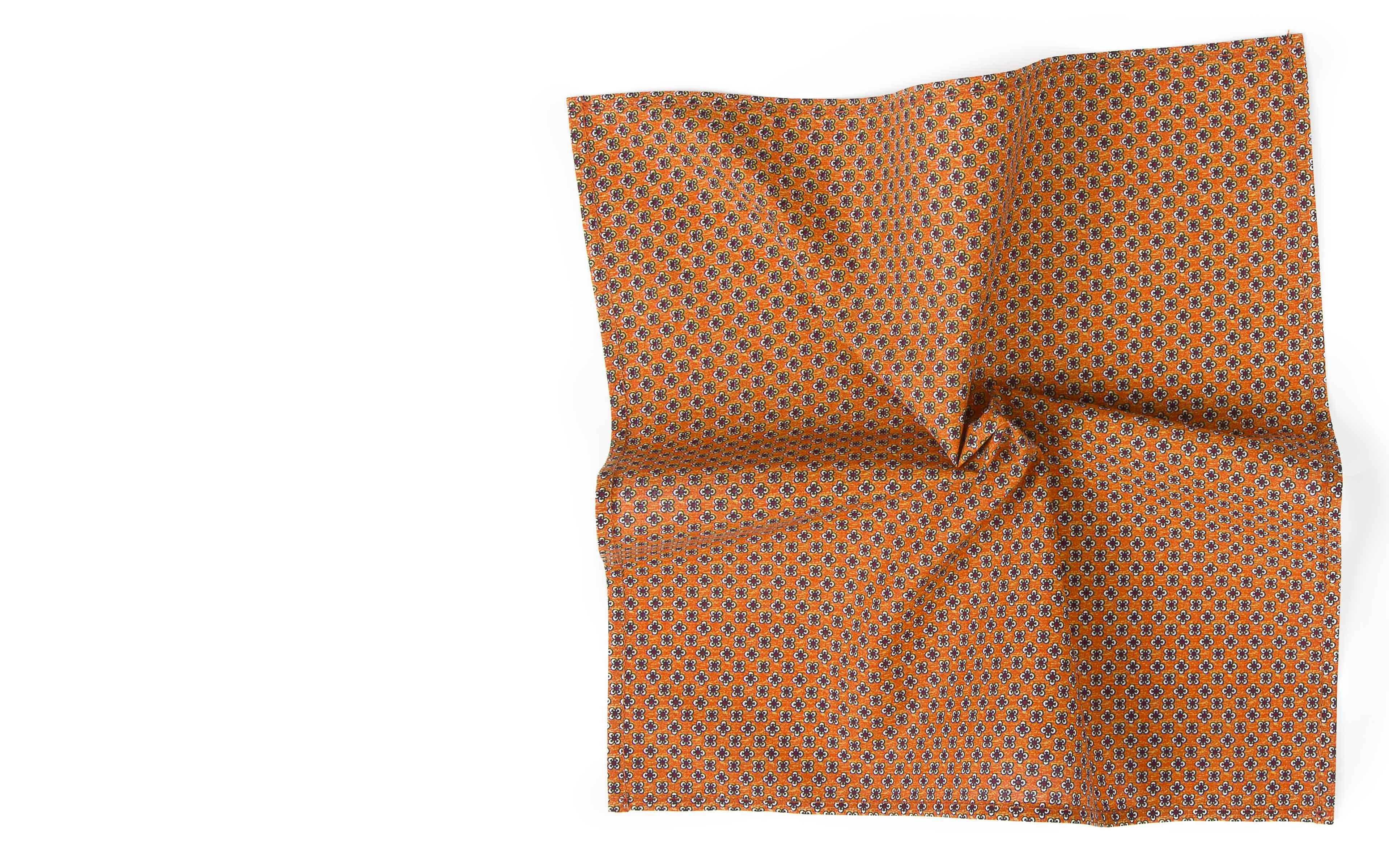 Orange Cotton Pocket Square