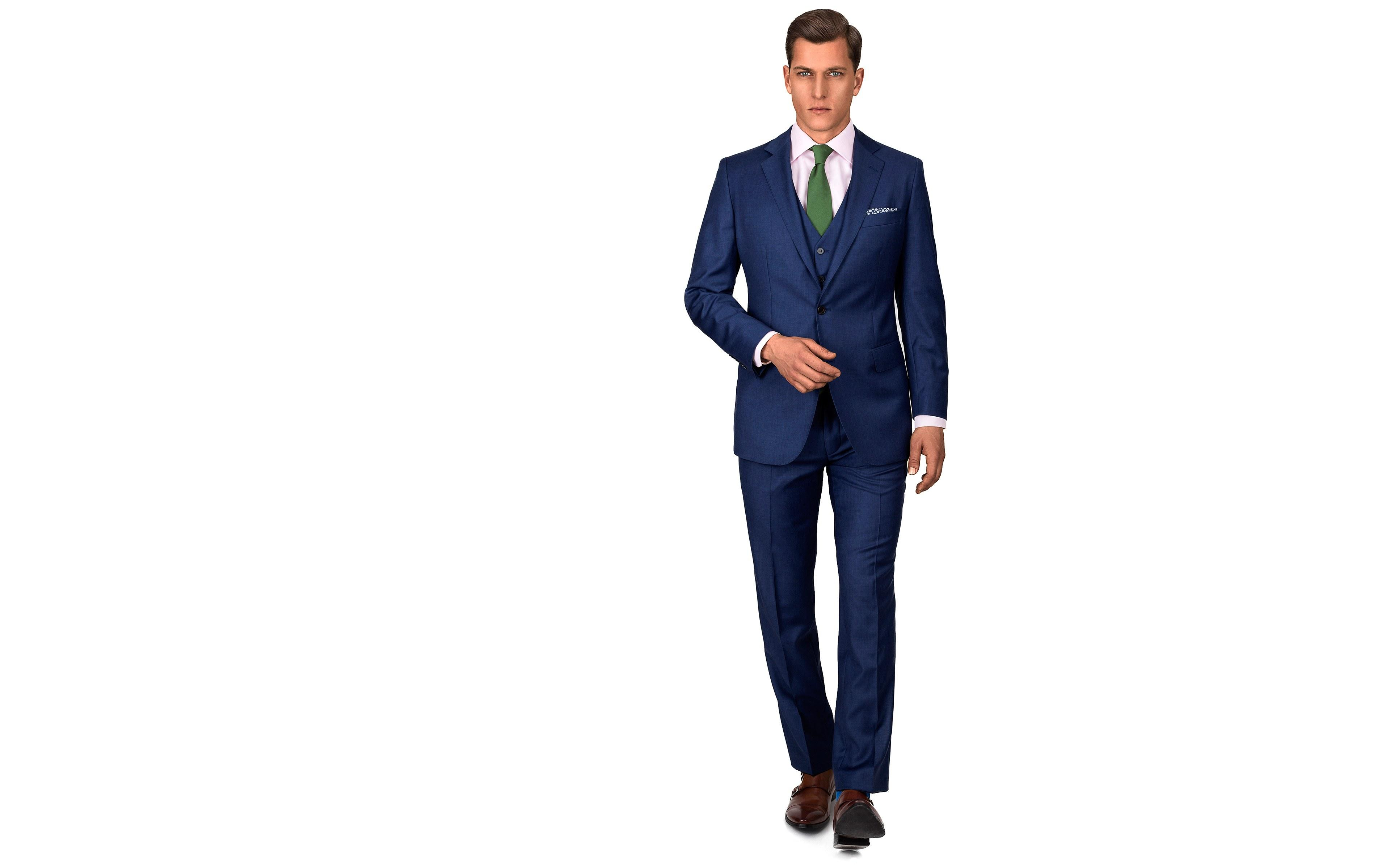 Intense Blue Pick & Pick 3 Piece Suit