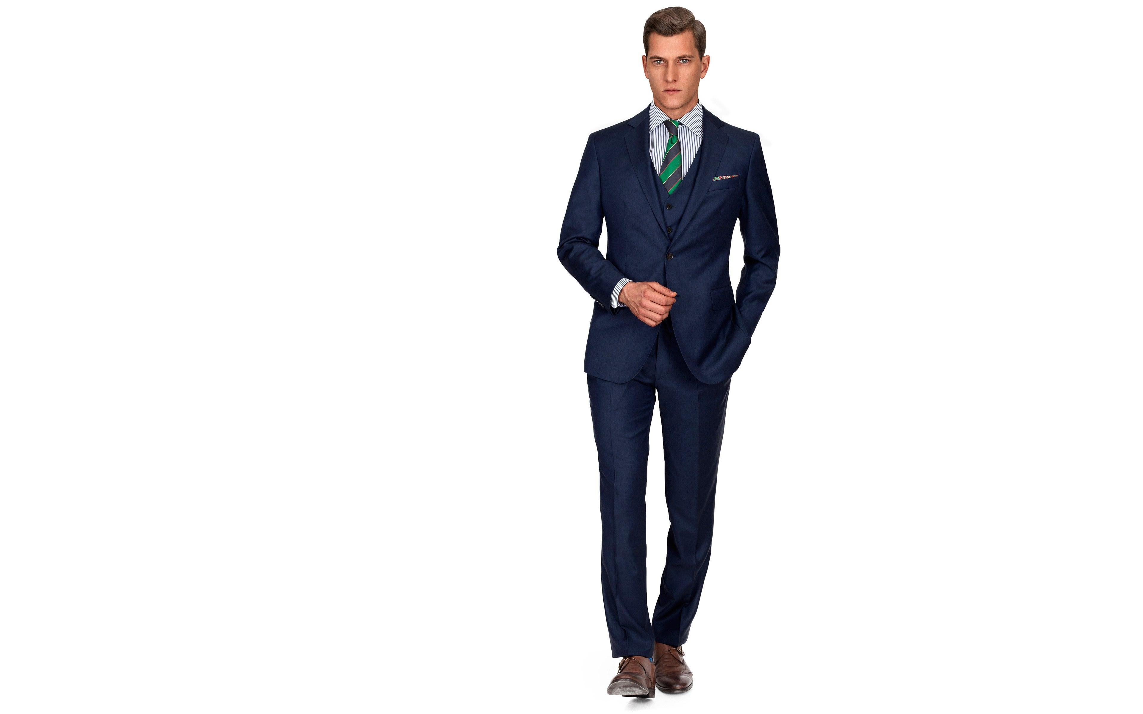 Navy Blue Pick & Pick 3 Piece Suit