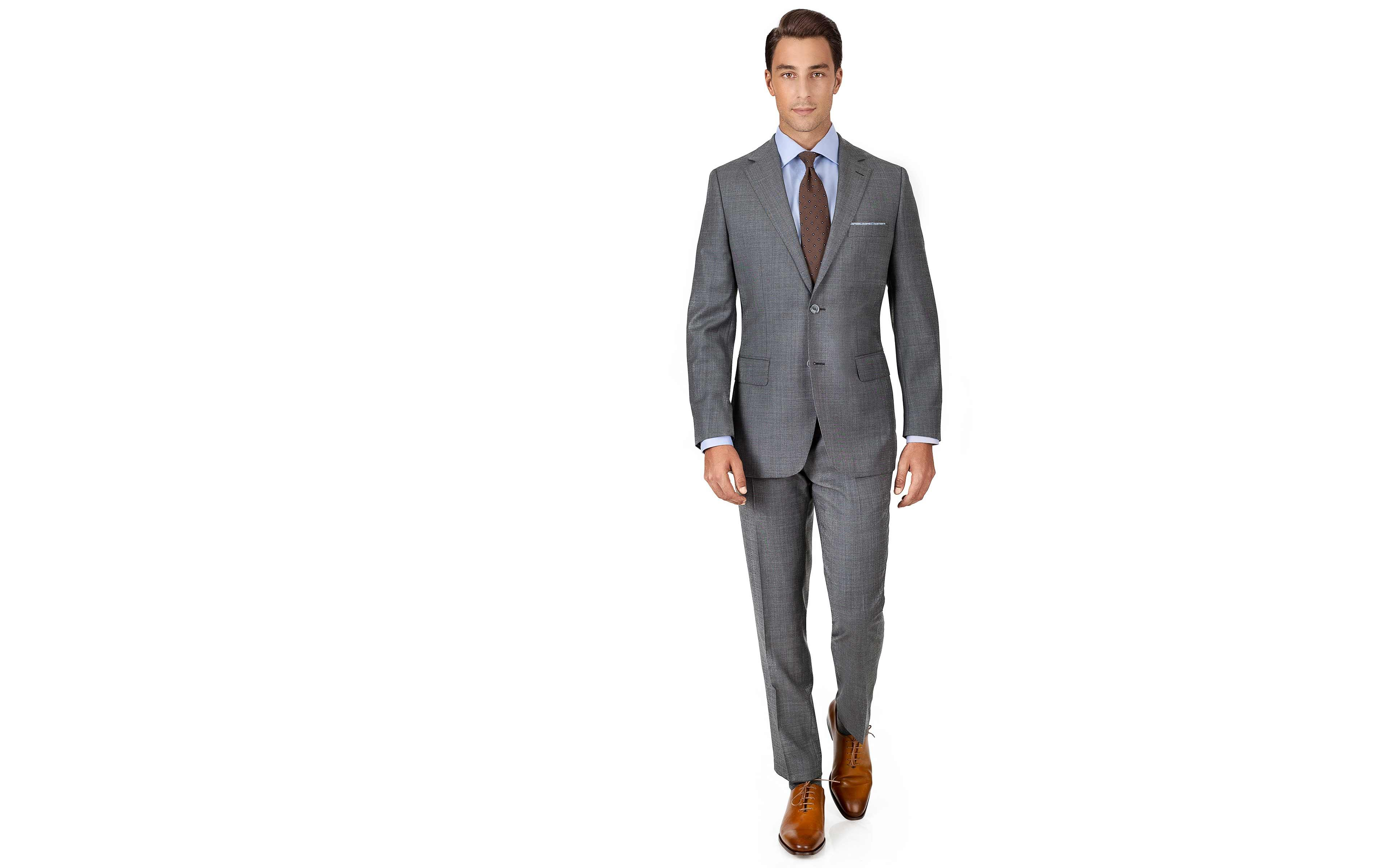 Suit in Grey Pick & Pick Wool