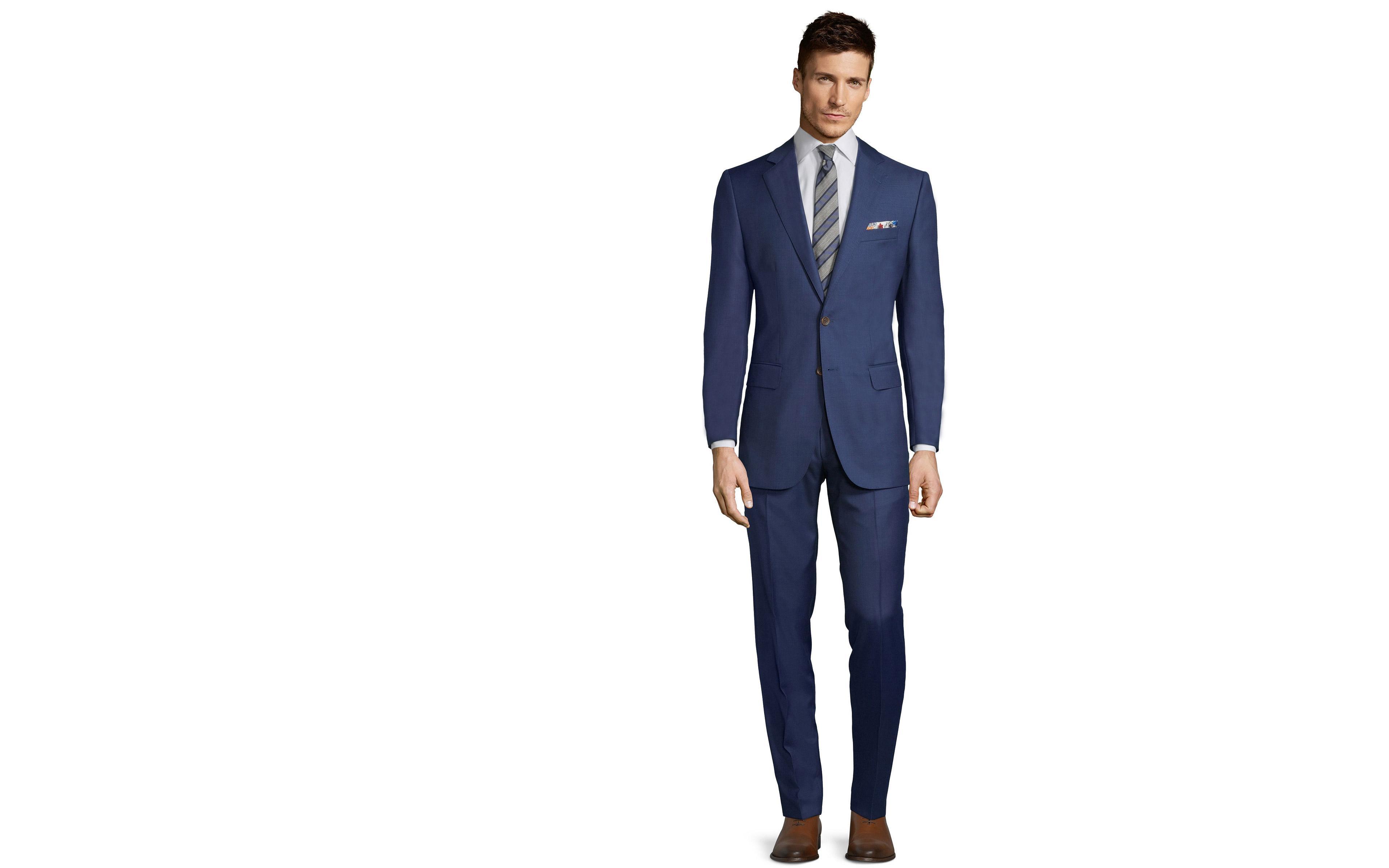 Suit in Intense Blue Pick & Pick Wool