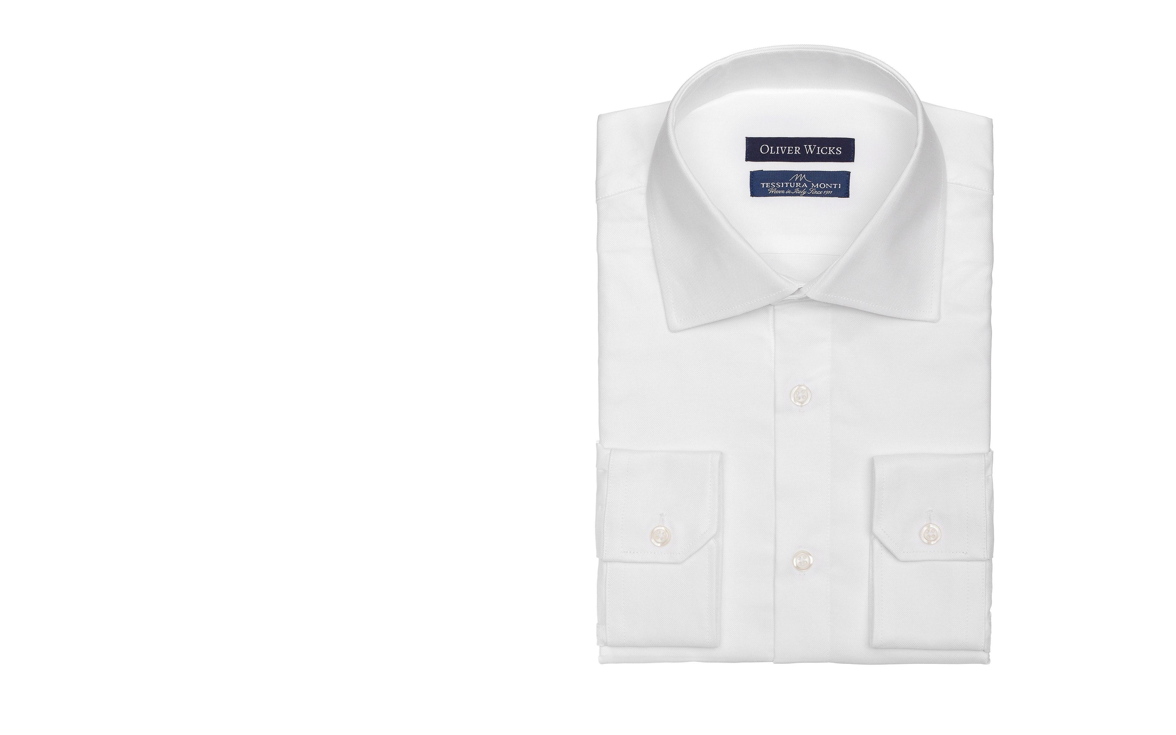 White Broadcloth Cotton Shirt
