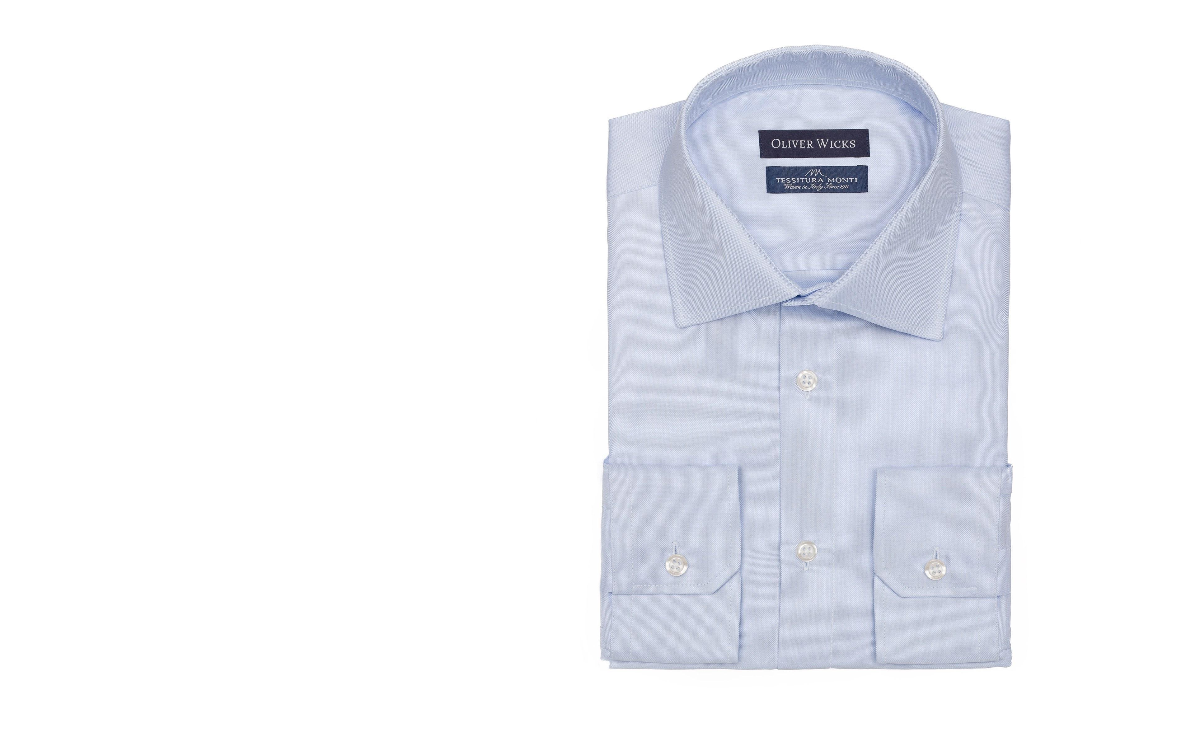 Light Blue Broadcloth Cotton Shirt