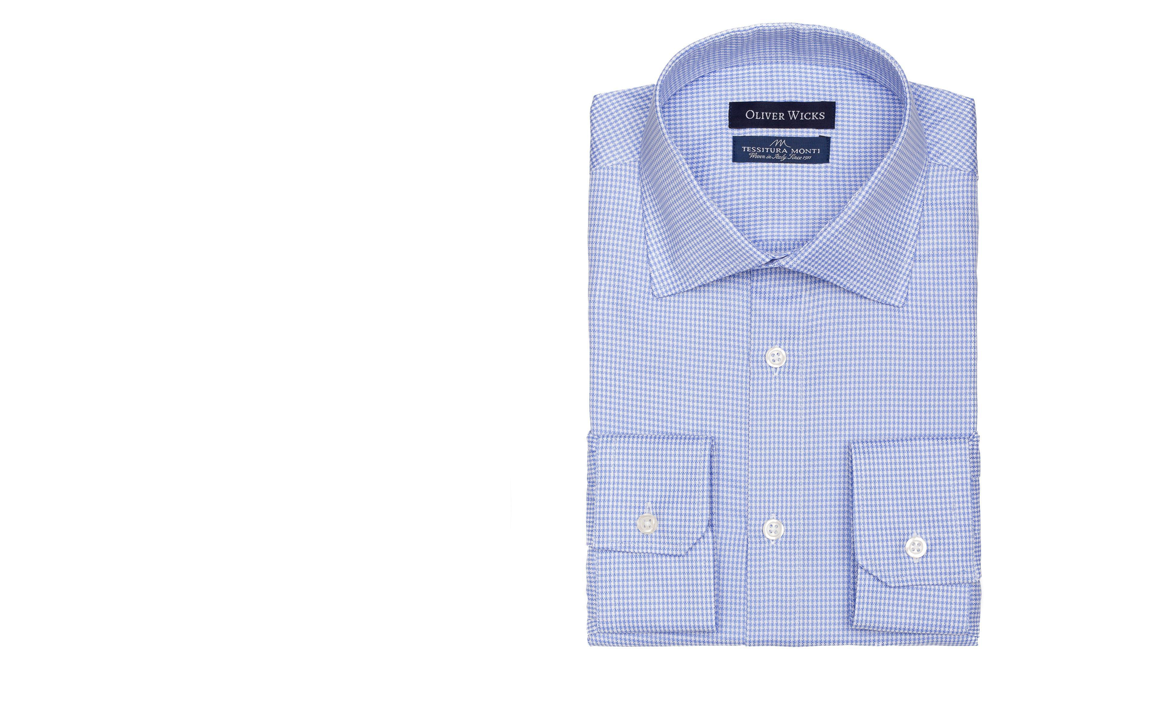 Blue Houndstooth Royal Oxford Shirt