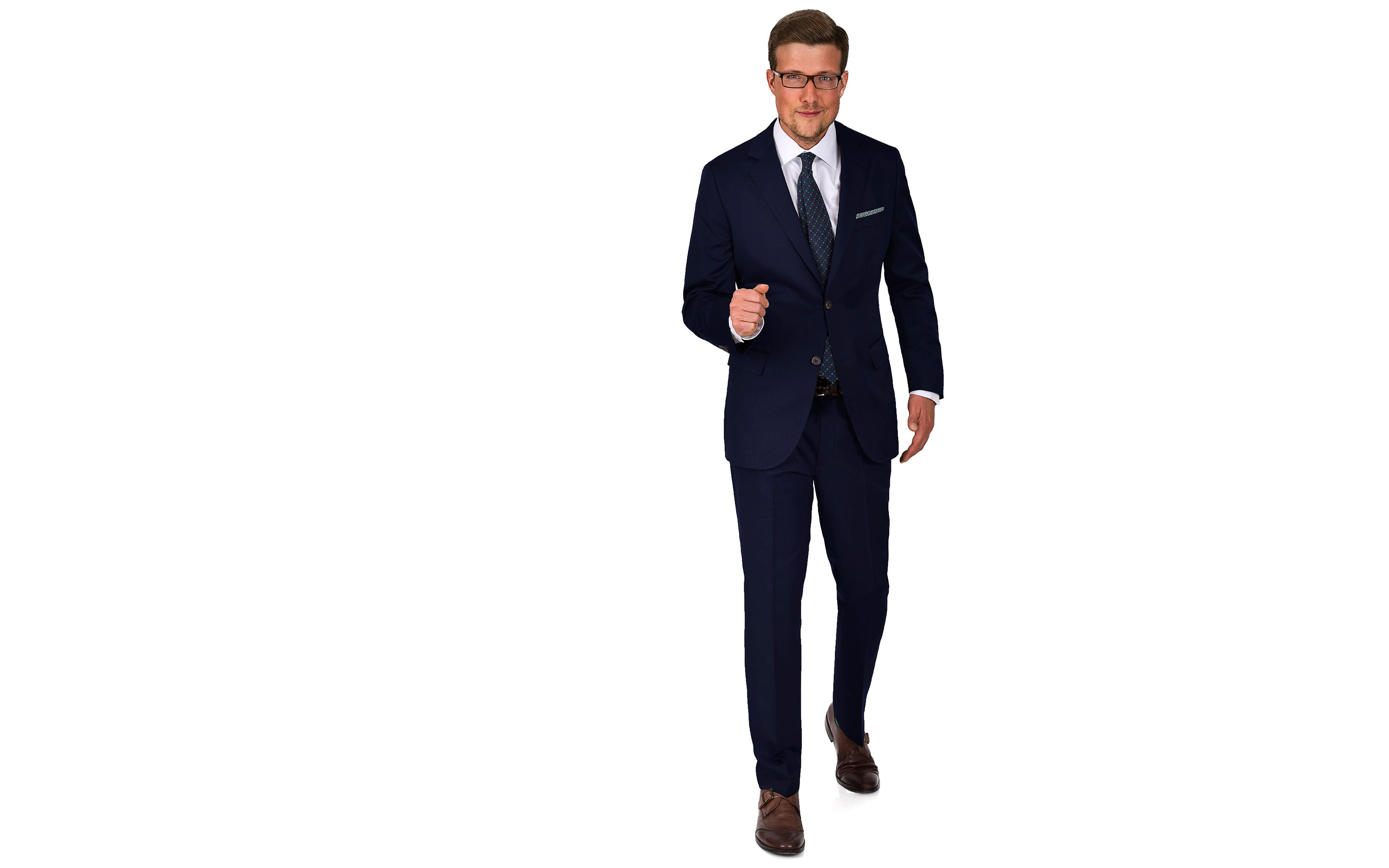 Suit in Navy Cotton