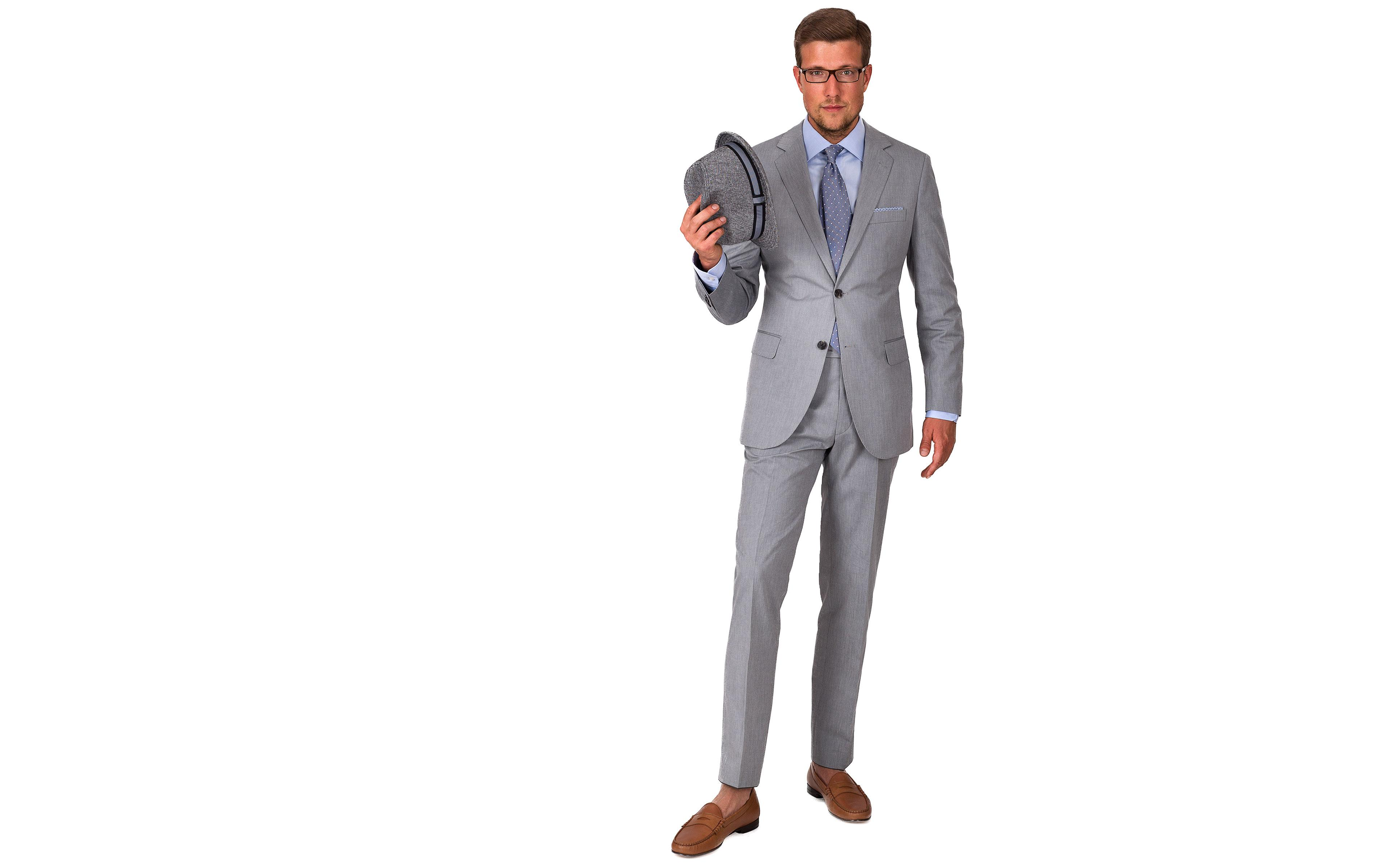 Suit in Grey Cotton