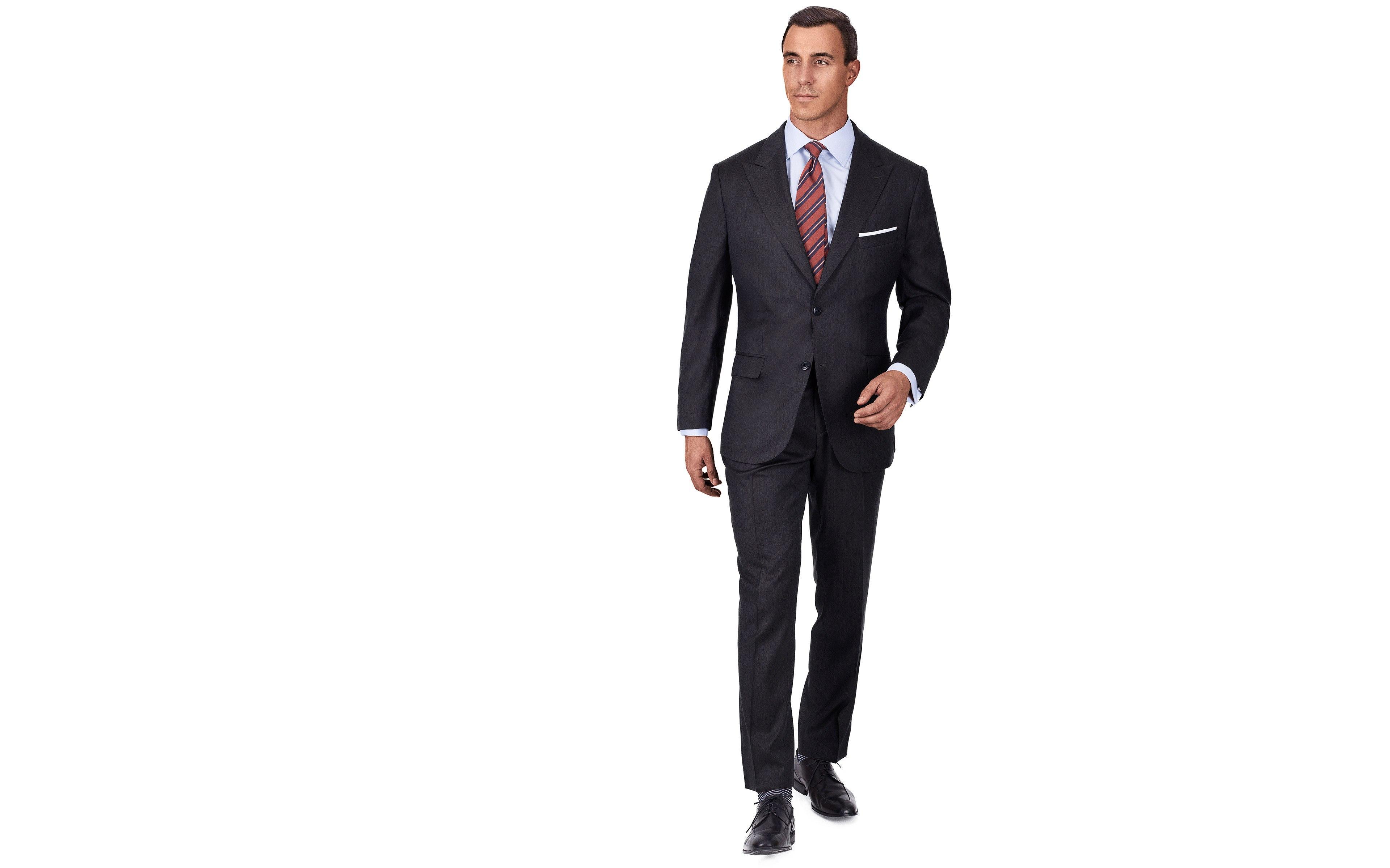 Premium Dark Grey Wool & Silk Suit