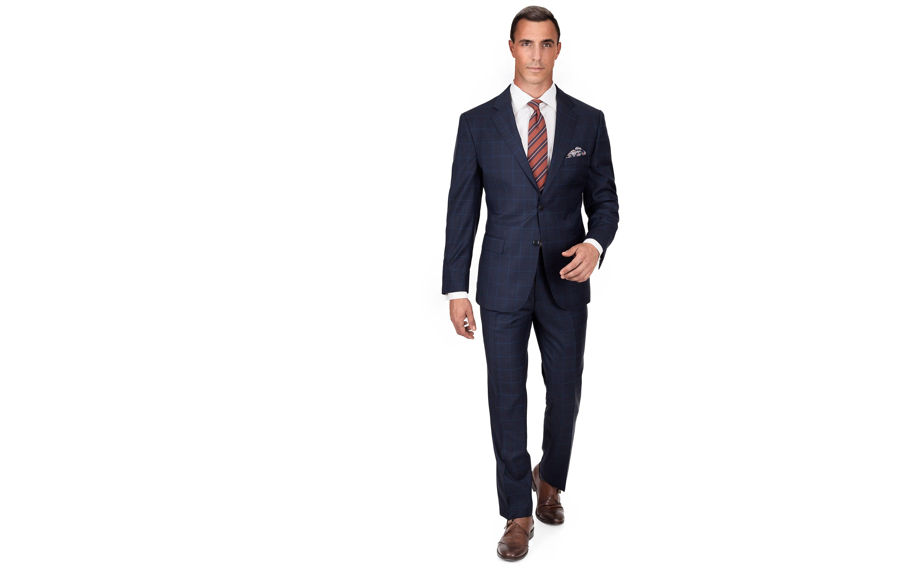 Blue Check Blue Suit