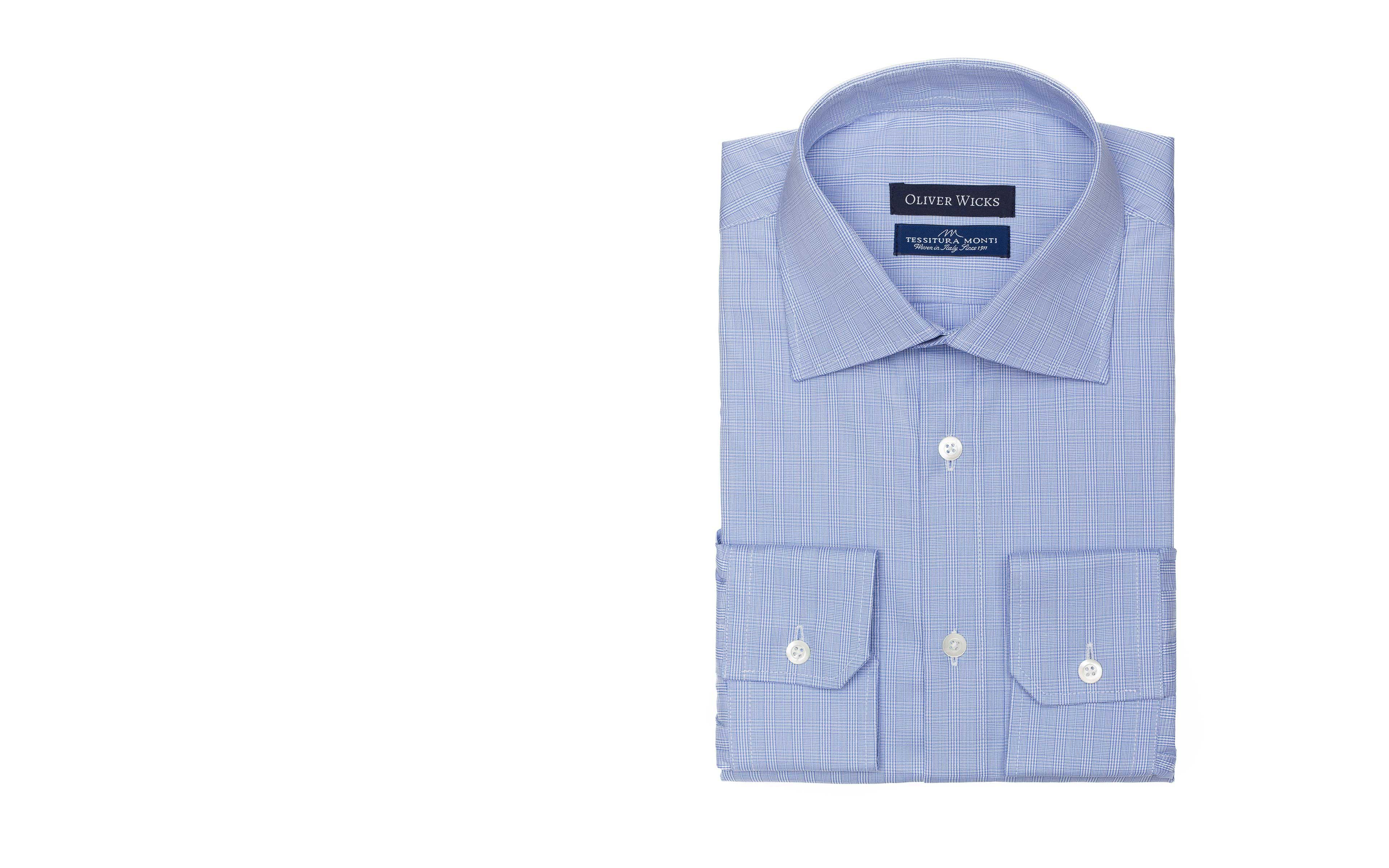 Checked Blue Cotton Shirt