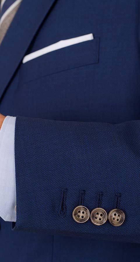 Royal Blue Pick & Pick Suit