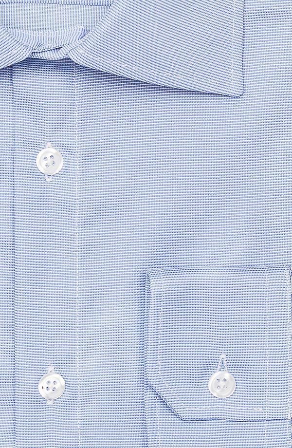 Light Blue Two-Ply Cotton Dobby Shirt