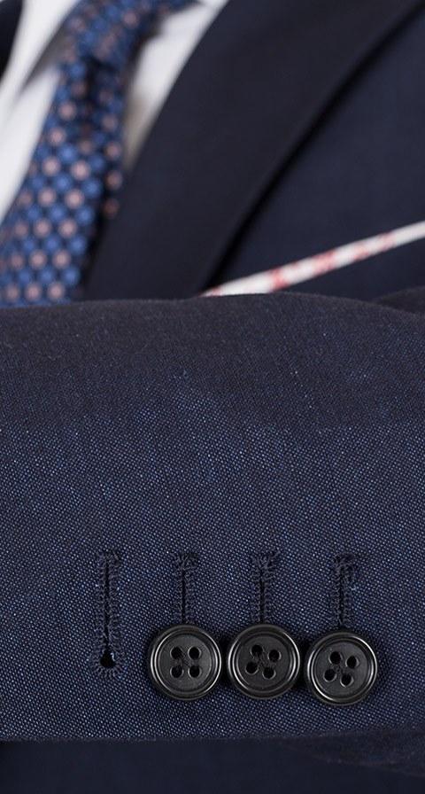 Navy Wool-Linen Suit