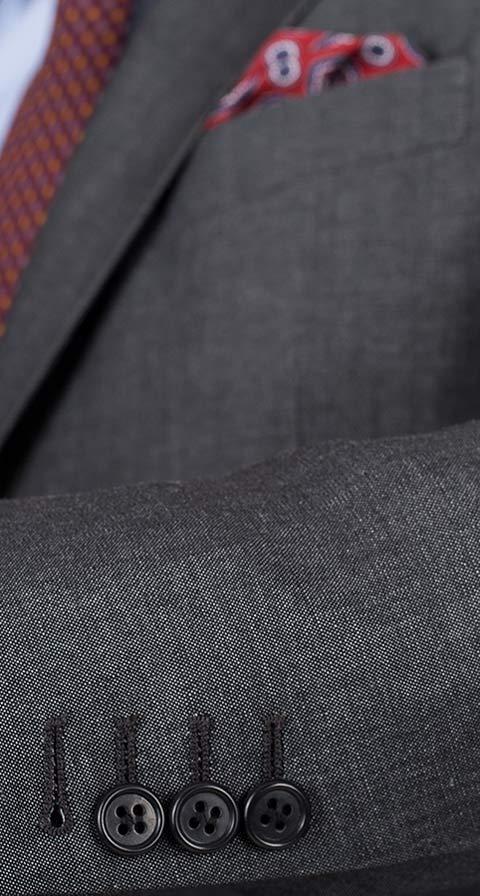 Dark Grey Wool-Linen Suit