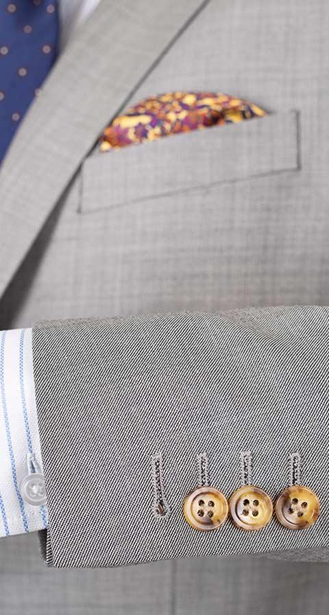 THE W. Suit in Light Grey Pick & Pick Wool