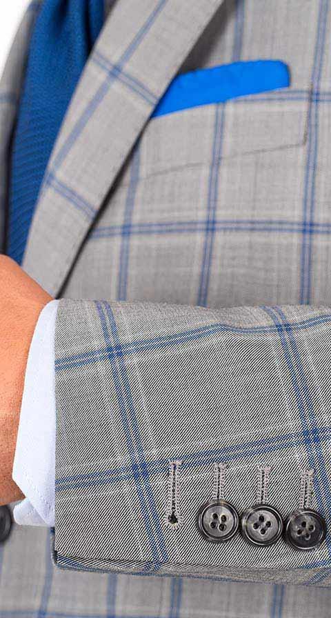 Vendetta Premium Blue Check Grey Blazer
