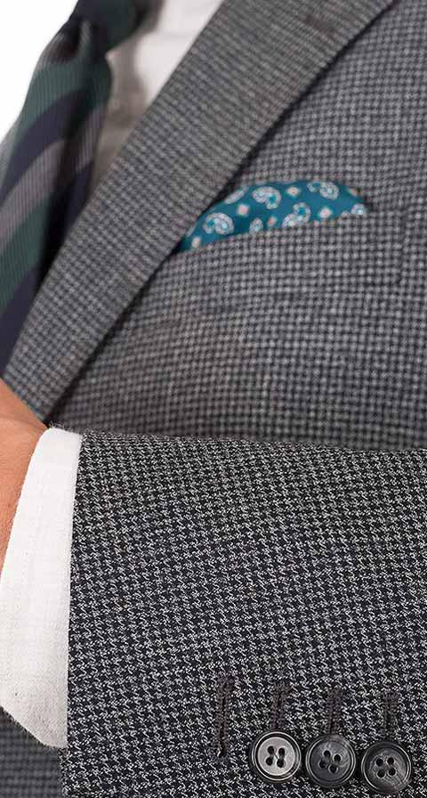 Dark Grey Houndstooth 3 Piece Suit