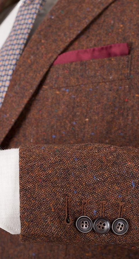 Copper Brown Donegal Tweed Blazer