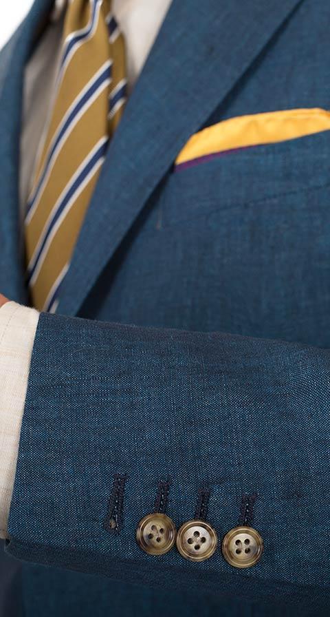 Teal Blue Linen Suit
