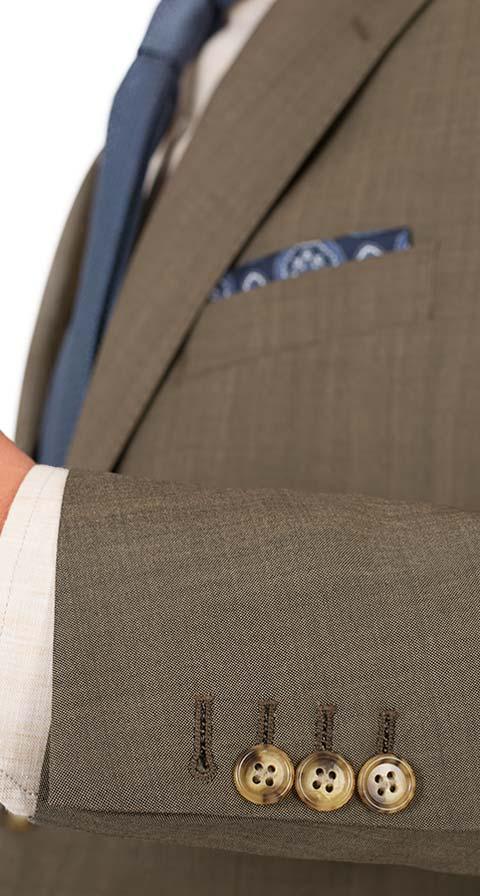 Light Brown Wool & Mohair Suit
