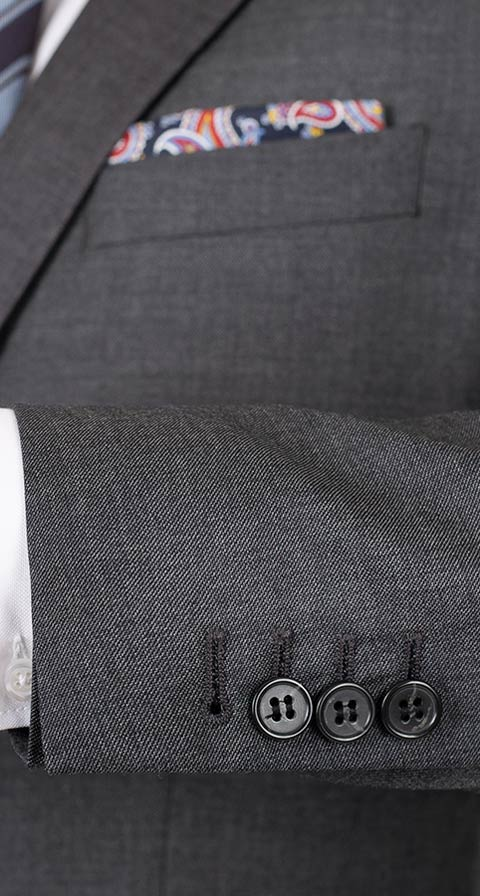 Dark Grey Pick & Pick Suit