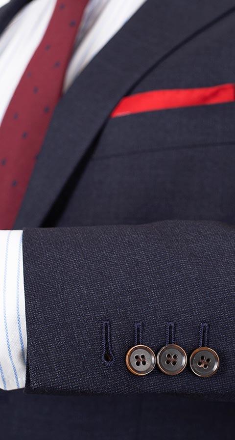 Charcoal Blue Melange Natural Stretch Suit