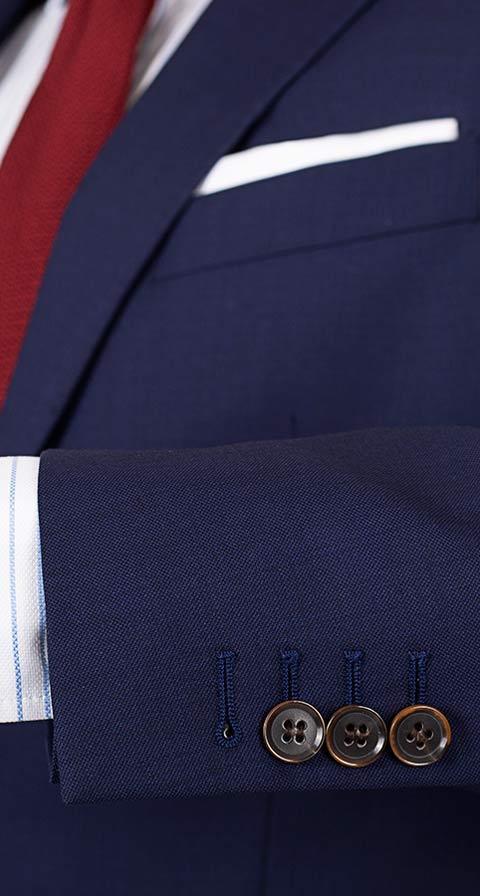 THE W. Suit in Deep Blue Pick & Pick Wool