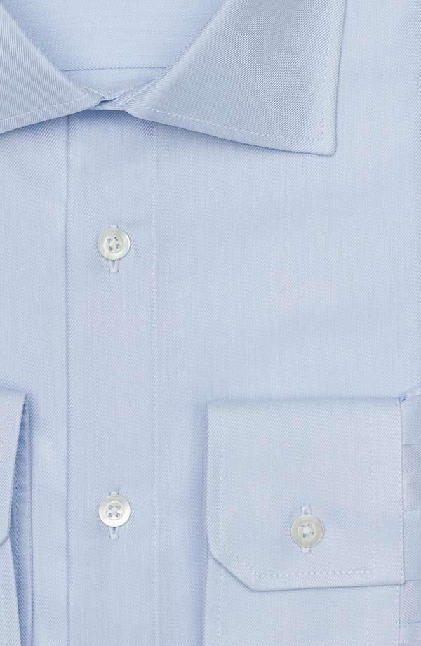 Light Blue Cotton Twill Shirt
