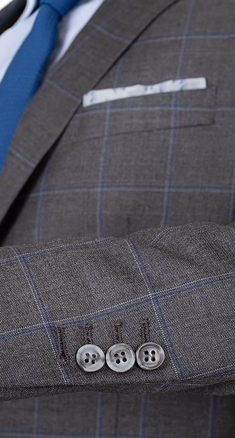 Grey Windowpane Pick & Pick Suit