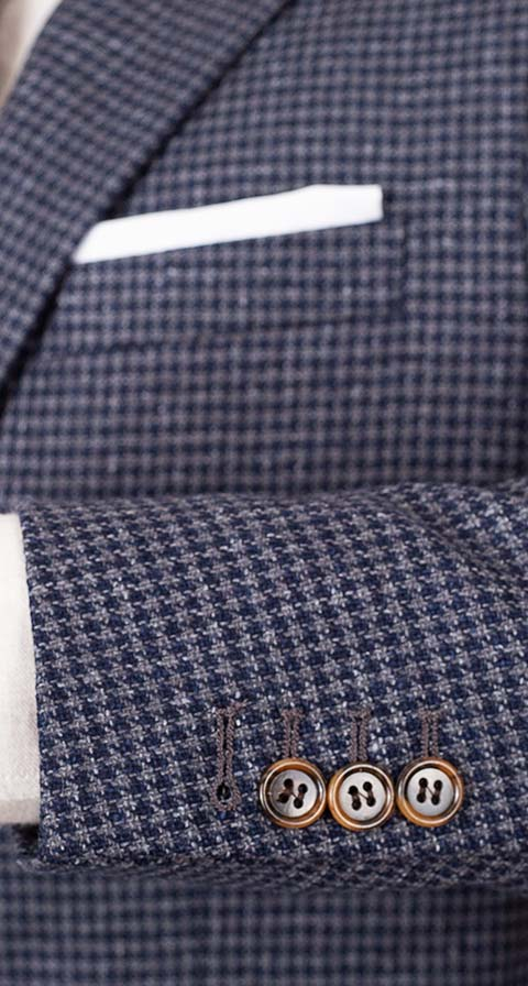 Navy & Grey Wool-Silk Sport Coat