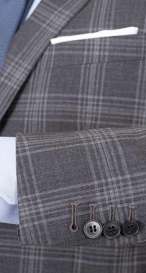 Charcoal Shadow Check Suit