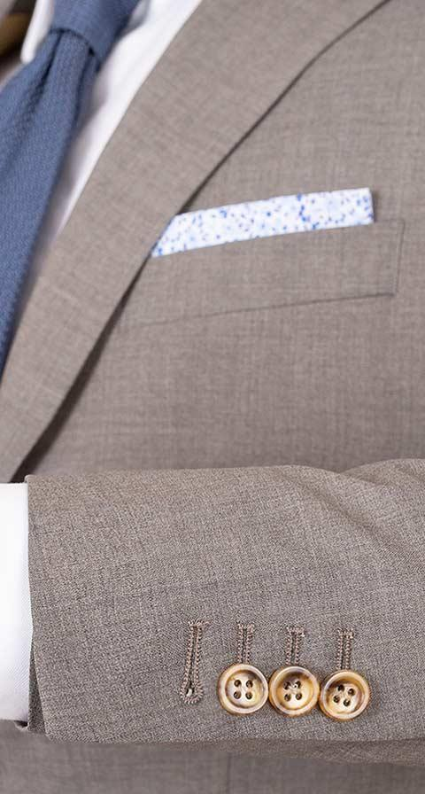 Tropical Rustic Taupe Suit