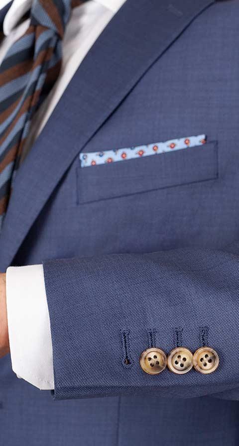 THE W. Suit in Sky Blue Pick & Pick Wool