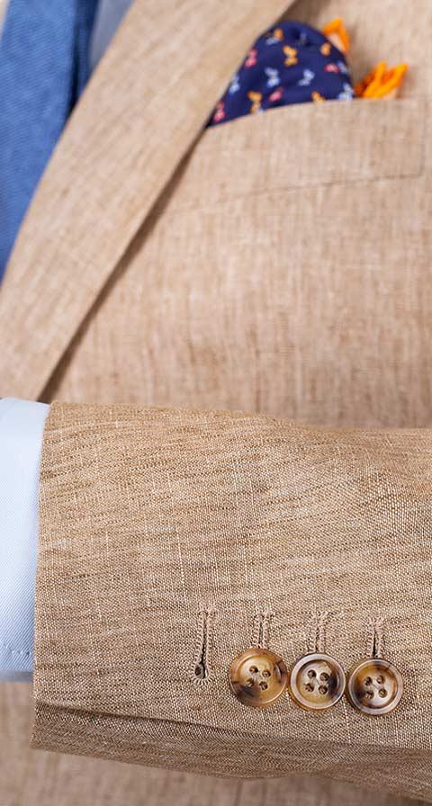 Sand Linen Suit