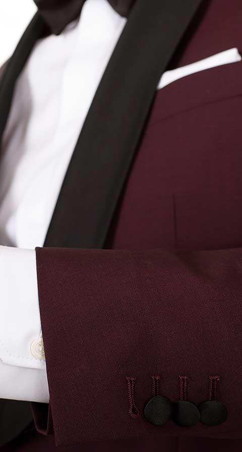 Burgundy Wool & Mohair Dinner Suit