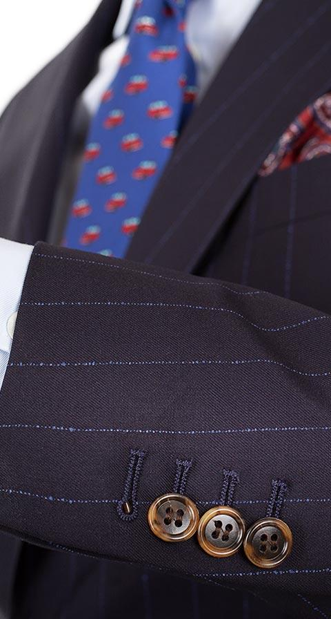 Vendetta Blue Stripe Navy Suit