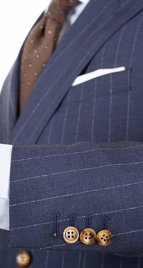Vendetta Sky Blue Stripe Suit