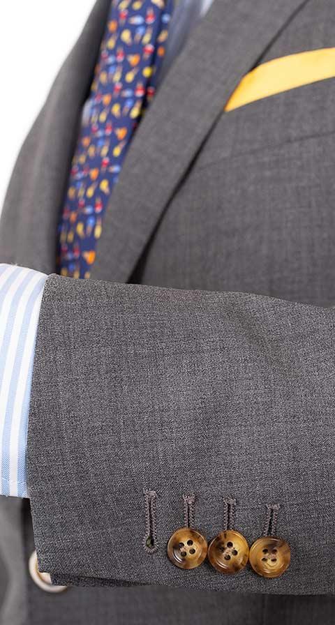 Tropical Rustic Grey Suit